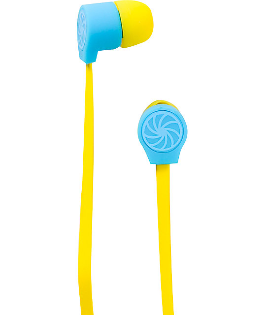 Aperture Bawse Blue & Yellow Earbuds
