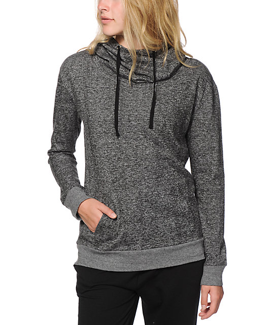 Comments about Cowl Neck Sweatshirt Wore this with black leggings - great length and so warm. Walked around the city with winds and low temps - very, very comfortable and the cowl neck drawstring keeps your neck 10mins.ml: ()