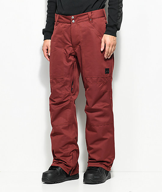 Aperture Boomer Work Pant Maroon 10K Snowboard Pants