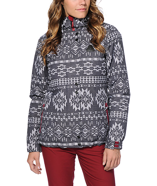 Aperture Cannon Black Tribal 10K Snowboard Jacket