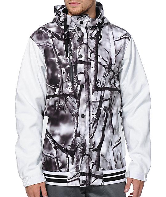Aperture Cascade 10K Tree Camo Varsity Snowboard Jacket