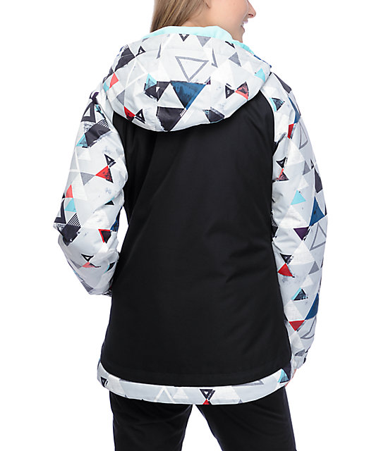 Aperture Creekside Black & Tribal Print 10K Snowboard Jacket