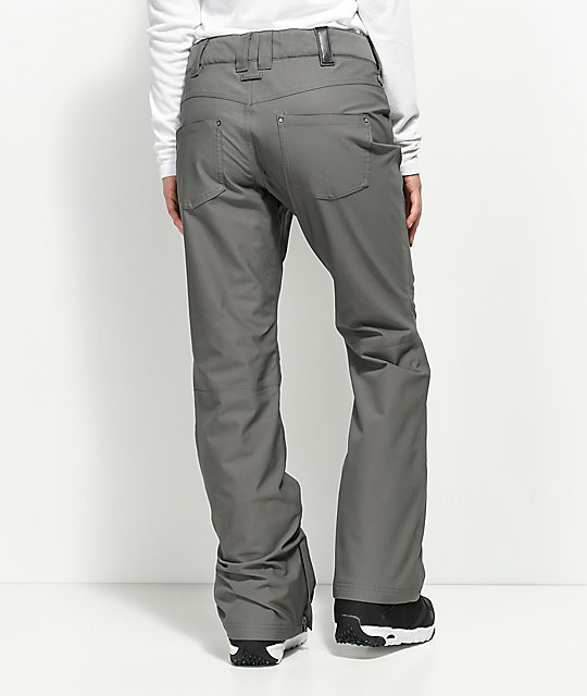 Aperture Crystal Stretch Charcoal 10K Snowboard Pants