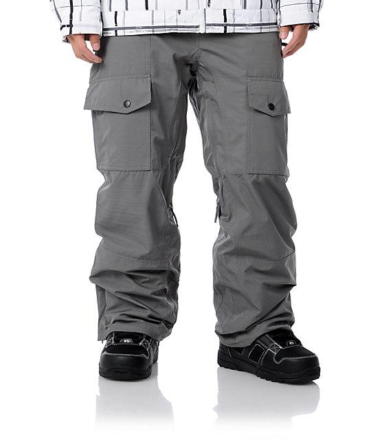 Aperture Drake Grey Mens Snowboard Pants