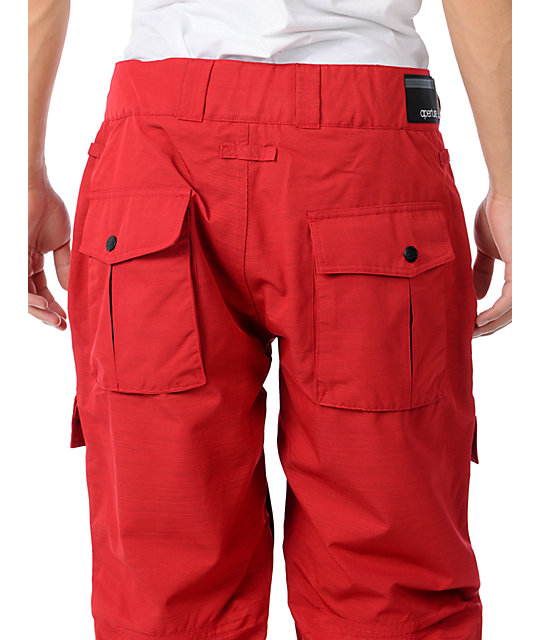 Aperture Drake Red Mens Snowboard Pants