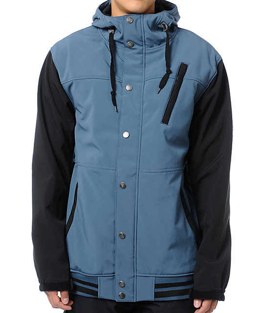 Aperture Dweller 10K Blue & Black Varsity Snowboard Jacket
