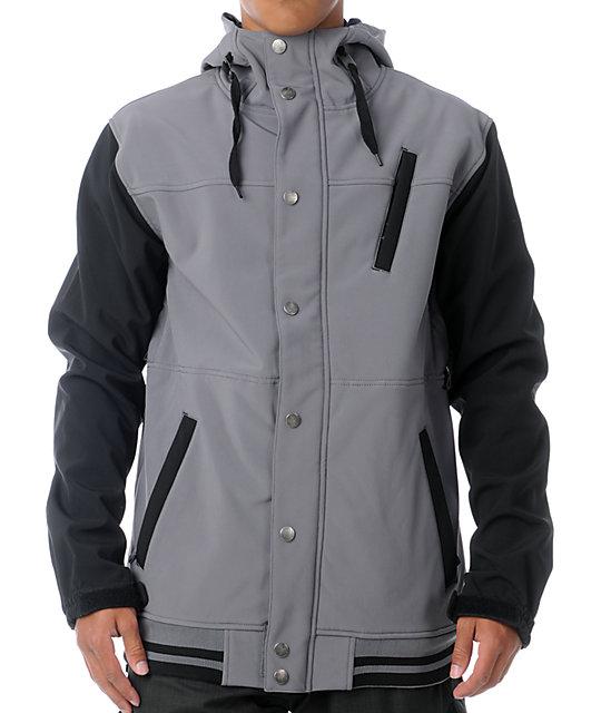 Aperture Dweller 10K Grey & Black Varsity Snowboard Jacket