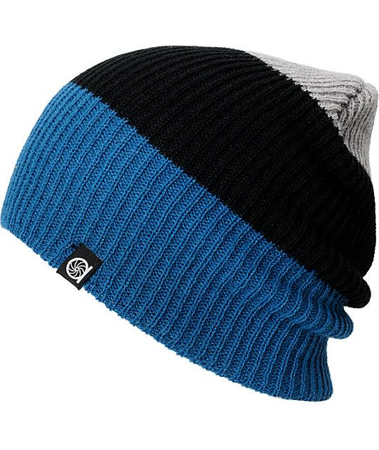 Aperture Ernesto Grey, Black & Blue Beanie
