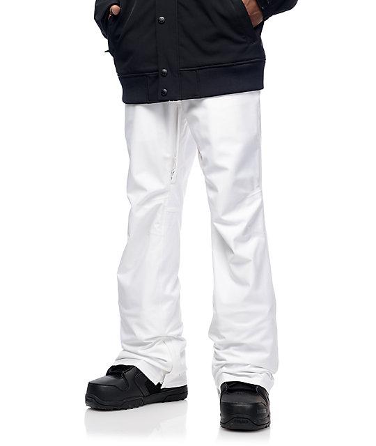 Aperture Green Line 10k White Snowboard Pants