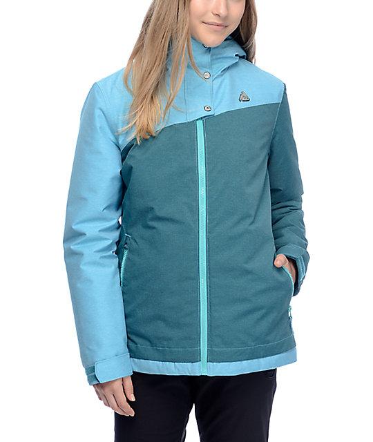 Aperture Harmony Teal Textured 10K Snowboard Jacket