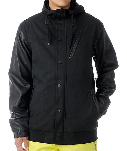 Aperture Humbolt 10K Black Varsity Snowboard Jacket