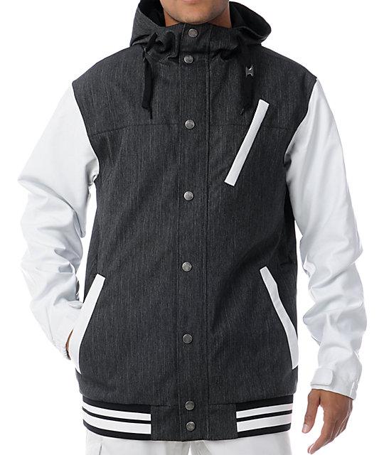 Aperture Humbolt 10K Denim & White Varsity Snowboard Jacket
