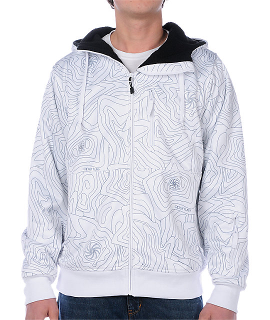 Aperture Nomad White Tech Fleece Jacket