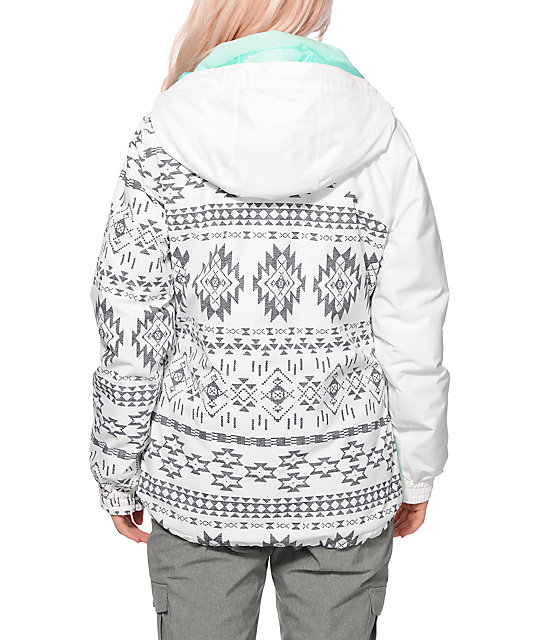 Aperture Pan Face Mint Tribal 10K Snowboard Jacket