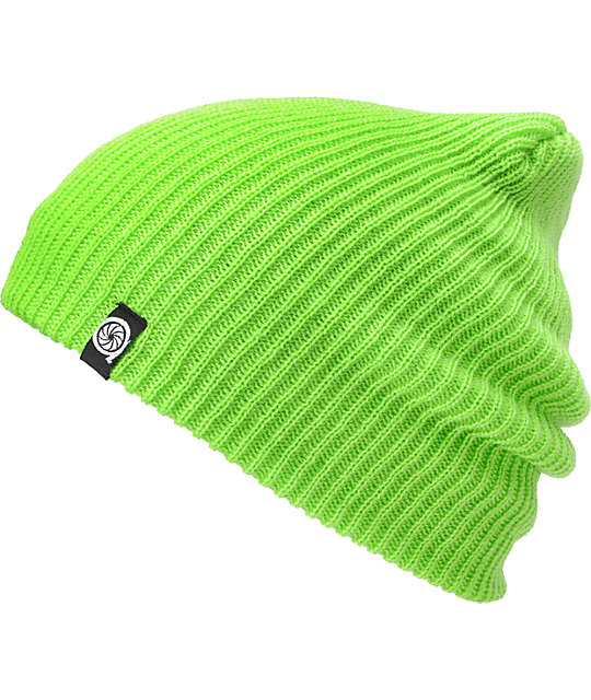 Aperture Pedro Lime Slouch Beanie