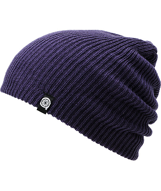 Aperture Pedro Purple Slouch Beanie