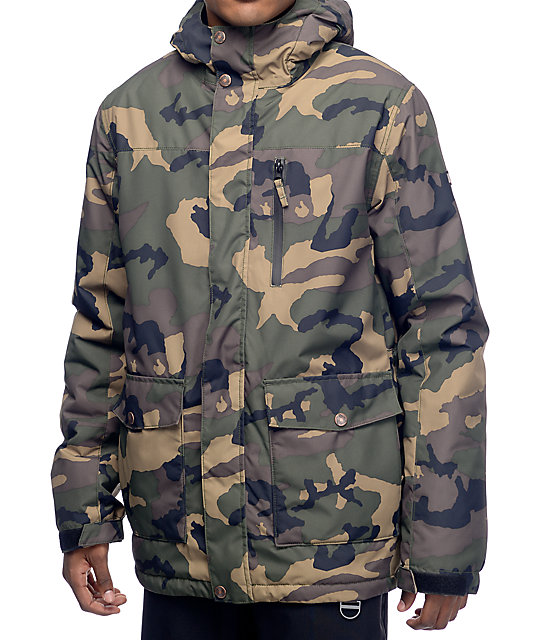 Aperture Secret Chute 10k Camo Snowboard Jacket At Zumiez