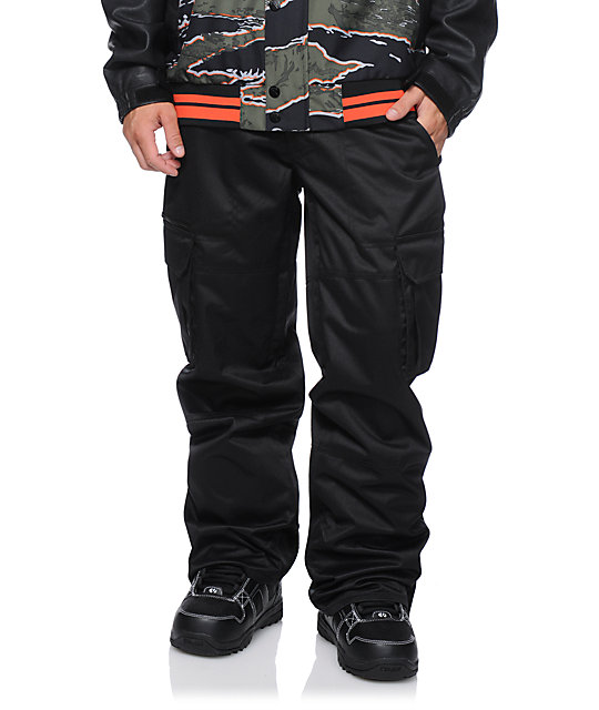 Aperture Sentry Black Cargo 10K Snowboard Pants