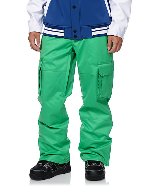 Aperture Sentry Kelly Green Cargo 10k Snowboard Pants
