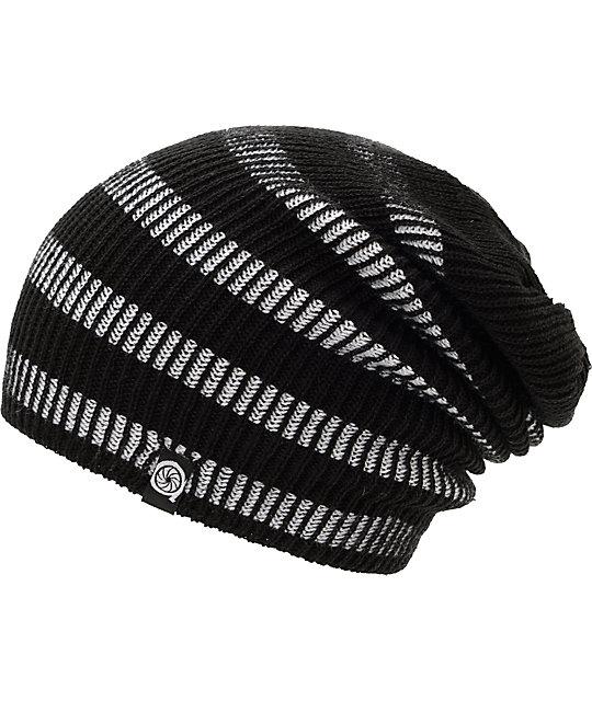 Aperture Street Contrast Black & White Stripe Beanie