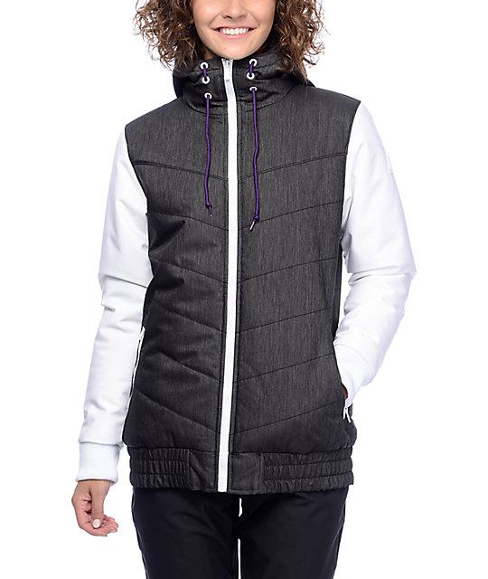 Aperture T-Bars Black & White 10K Snowboard Jacket