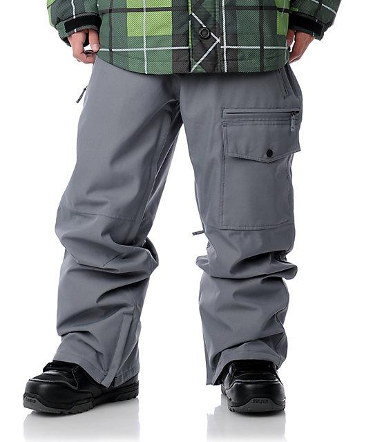 Aperture Undercut Grey Snowboard Pants