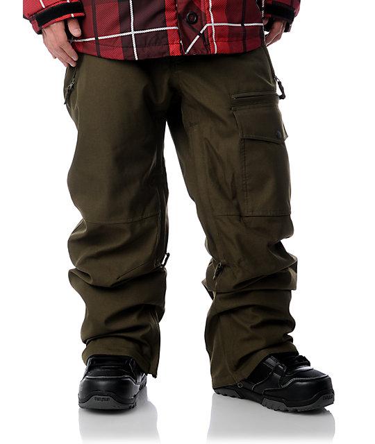 Aperture Undercut Olive Snowboard Pants