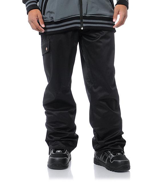 Aperture Union 10K Black Cargo Snowboard Pants