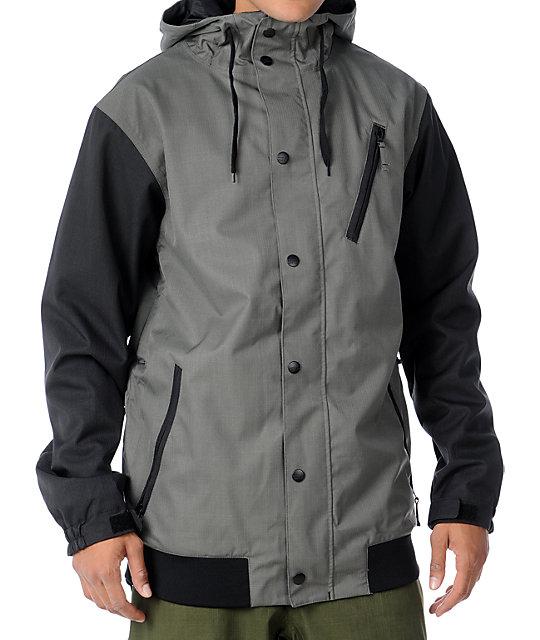 Aperture Varsity 10K Grey Mens Snowboard Jacket
