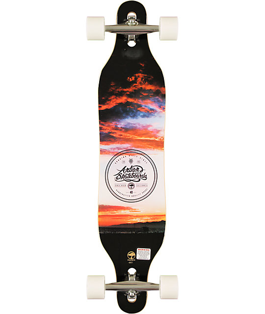 "Arbor Axis 40""  Drop Through Longboard Complete"