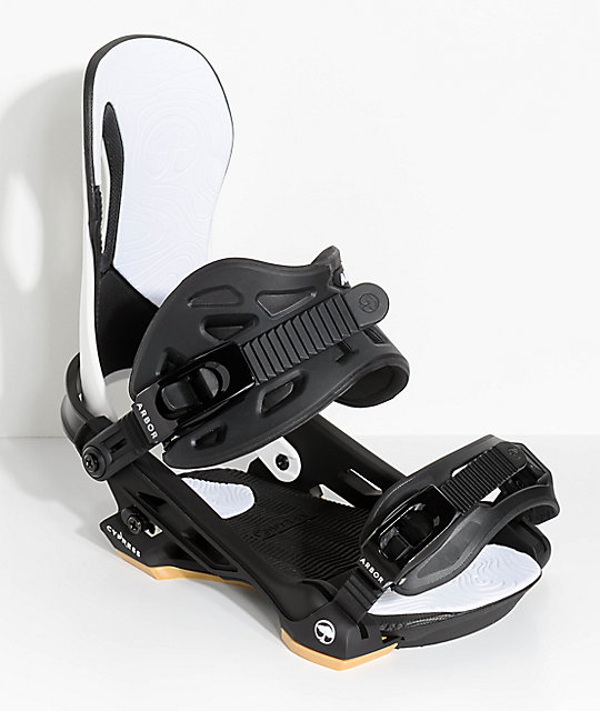 Arbor Cypress White Snowboard Bindings
