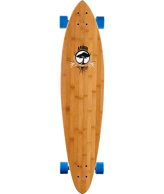 "Arbor Fish 38""  Bamboo Pintail Longboard Complete"