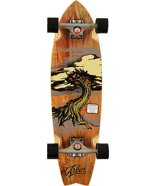 Arbor Gb Sizzler 31 75 Quot Koa Cruiser Complete Skateboard At
