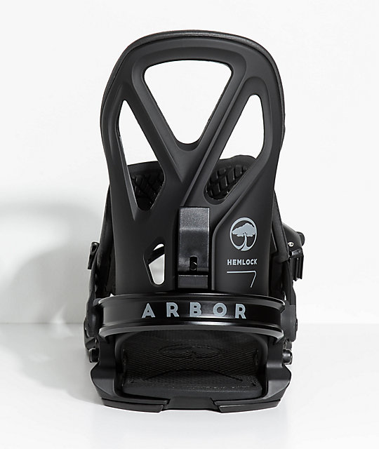 Arbor Hemlock Black Snowboard Bindings