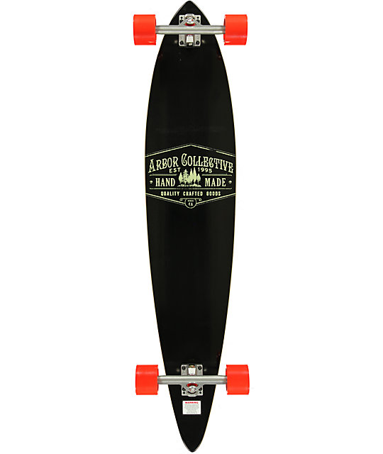 "Arbor Timeless Reclaimed 46""  Pin Tail Longboard Complete"