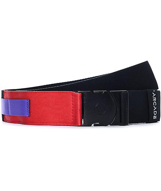 Arcade Nomad cinturón en negro, rojo y morado