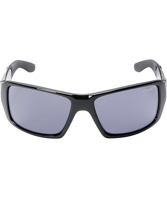 Arnette Big Deal Gloss Black & Mirror Blue Sunglasses