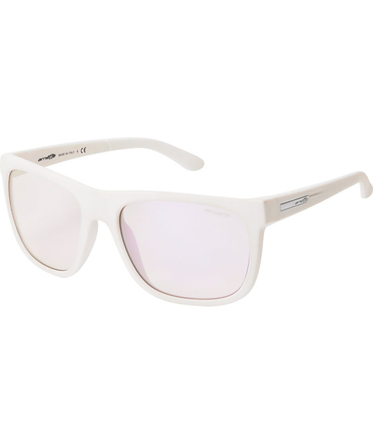 Arnette Fire Drill White & Mirror Purple Sunglasses