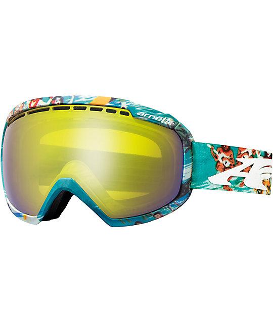 Arnette Skylight Aloha Teal Snowboard Goggles