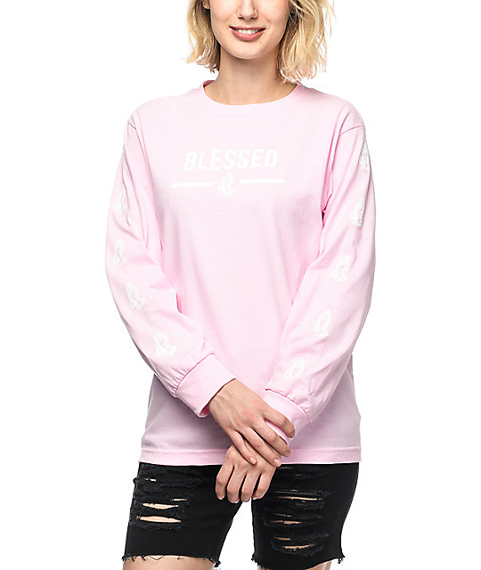 Collective Blessed Light Pink Long Sleeve T-Shirt