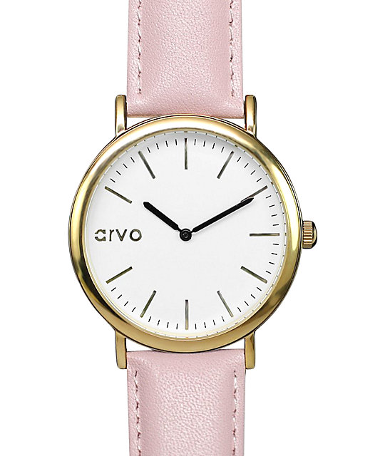 Arvo Time Sawyer White & Blush Watch