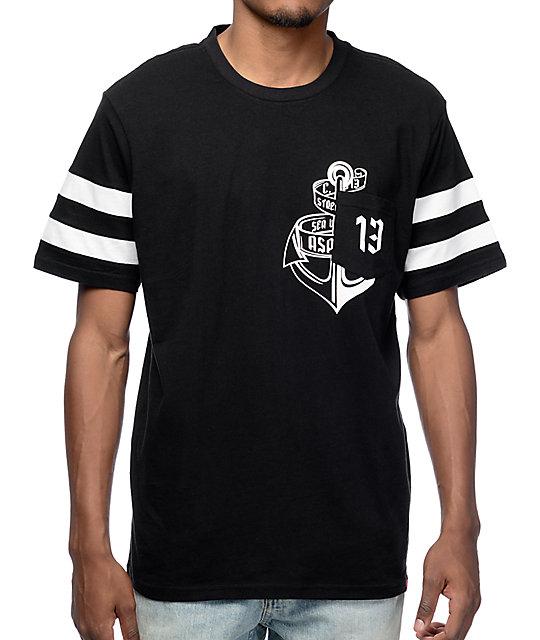 Asphalt Unlucky 13 Black Pocket T-Shirt