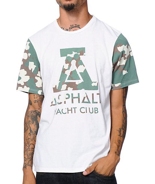 Asphalt Yacht Club Camo A White T-Shirt
