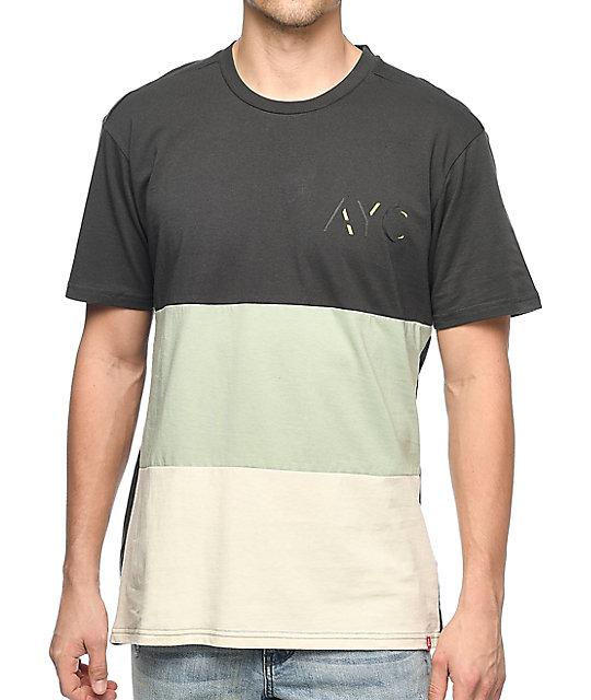 Asphalt Yacht Club Elongated Parchment, Sage & Charcoal T-Shirt