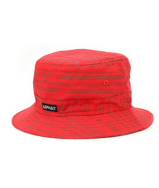 Asphalt Yacht Club Nautical 2 Red Bucket Hat