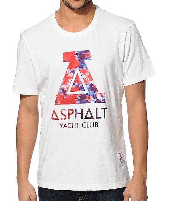 Asphalt Yacht Club Tie Dye Fill White T-Shirt
