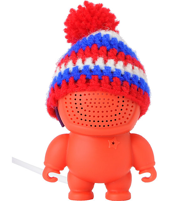 Audiobot Red Beanie Bot Powered Speaker