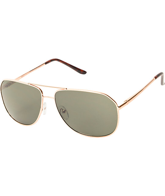 Aviator Gold & Tortoise Sunglasses