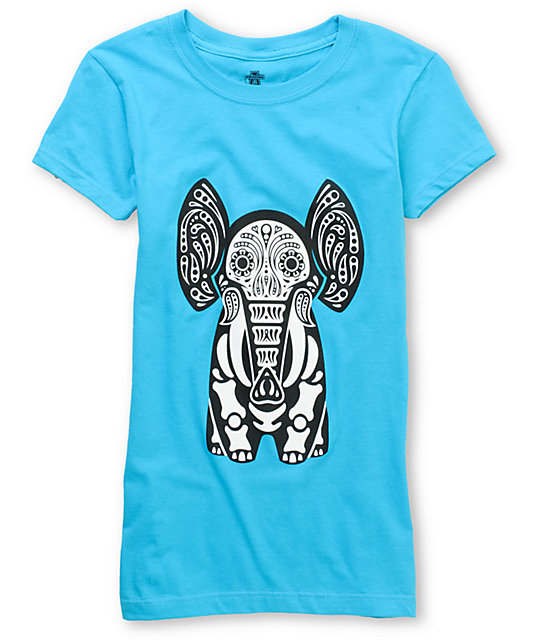 Awesome Academy Elephant Of The Dead Turquoise T-Shirt