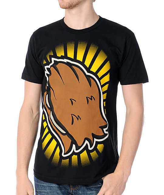 B3AR FRUIT Praying Paws Black T-Shirt